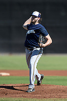 Milwaukee Brewers pitcher Tyler Cravy (52) during an Instructional League game against the Seattle Mariners on October 4, 2014 at Peoria Stadium Training Complex in Peoria, Arizona.  (Mike Janes/Four Seam Images)