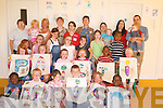 SUMMER CAMP: Children with their minders finishing up Summer Camp at Paisti na nGrian, Lios Rua, Gallowsfield, Tralee, on Monday. Front l-r: Larry Adebayo, Lea Manns, Niamh OSullivan, Jer Keohane, Jessica Dooner and Lekaw Adebayo. Back were: Isobel Bailey, Christina Fitzgerald, Jade Manns, Lianne Donnelly, Osa Zode, Joseph Odiahi, Chloe Dooner, Emma Dooner, Erin OSullivan, Kayla Donnelly, Jade Griffin, Klara OSullivan, Sophie OBrien, Elizabeth Hayes, Leeroy, Marie Dooner, Chelsey Healy, Bernadette OBrien, Dylan OBrien, Mia Ryder, Avril OSullivan, Donna Ryder, Phil Thomas and Jayden Thomas..