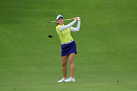 Chella Choi hits her ball off the 9th fairway during Round 3 at the ANA Inspiration, Mission Hills Country Club, Rancho Mirage, Calafornia, USA. {03/31/2018}.<br />