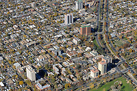 Aerial Denver, Colorado. University of Denver campus.