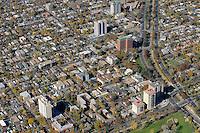 Aerial Denver, Colorado. University of Denver campus.