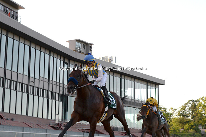 May 2, 2020: Nadal (5) with jockey Joel Rosario aboard before crossing the finish line in the 2nd division of the Arkansas Derby at Oaklawn Racing Casino Resort in Hot Springs, Arkansas on May 2, 2020. Justin Manning/Eclipse Sportswire/CSM