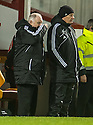 Aberdeen manager Craig Brown and assistant manager Archie Knox .