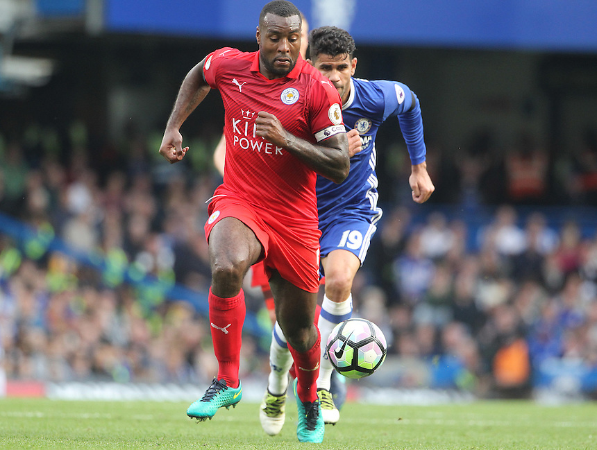 Leicester City's Wes Morgan <br /> <br /> Photographer Rachel Holborn/CameraSport<br /> <br /> The Premier League - Chelsea v Leicester City - Saturday 15th October 2016 - Stamford Bridge - London<br /> <br /> World Copyright &copy; 2016 CameraSport. All rights reserved. 43 Linden Ave. Countesthorpe. Leicester. England. LE8 5PG - Tel: +44 (0) 116 277 4147 - admin@camerasport.com - www.camerasport.com