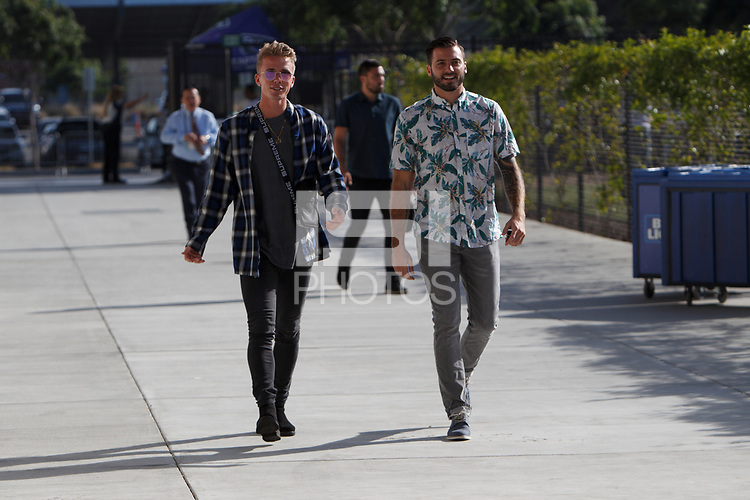 San Jose, CA - Wednesday July 25, 2018: Jackson Yueill, Matt Bersano during a Major League Soccer (MLS) match between the San Jose Earthquakes and the Seattle Sounders FC at Avaya Stadium.