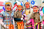 Scoil Mhaolcheadair pupils Mary O'Neill, Caoimhe Johnson, Katie O'Brien, Simone Murphy getting ready for the Féile na Bealtaine parade in Dingle over the weekend.