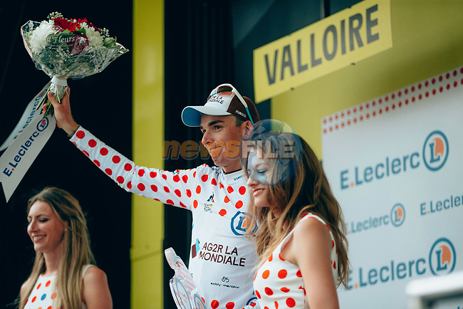 Romain Bardet (FRA) AG2R La Mondiale finishes in 2nd place at the end of Stage 18 and takes over the mountains Polka Dot Jersey of the 2019 Tour de France running 208km from Embrun to Valloire, France. 25th July 2019.<br /> Picture: ASO/Thomas Maheux | Cyclefile<br /> All photos usage must carry mandatory copyright credit (© Cyclefile | ASO/Thomas Maheux)