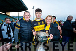 Tony Brosnan with his Father Tommy and Aunt Breda Cronin pictured after the County final at Austin Stack Park on Sunday.