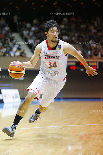 Ryumo Ono (JPN), AUGUST 15, 2015 - Basketball : International friendly match between Japan 65-54 Czech Republic at 2nd Yoyogi Gymnasium in Tokyo, Japan. (Photo by Yusuke Nakanishi/AFLO SPORT)