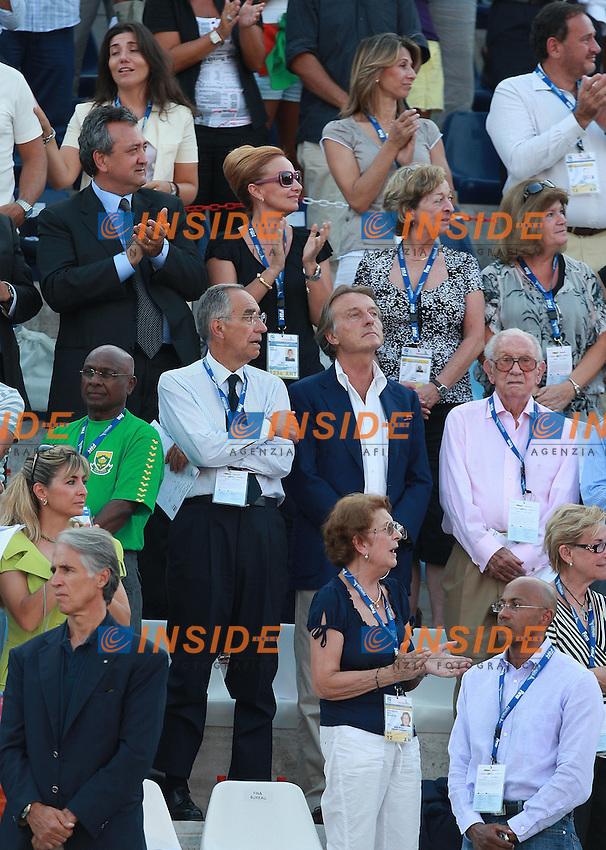 Roma 30th July 2009 - 13th Fina World Championships .From 17th to 2nd August 2009.Luca Cordero di Montezemolo.Franco Carraro.Paolo Barelli.Giovanni Malagò.photo: Roma2009.com/InsideFoto/SeaSee.com