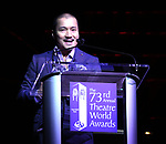 Jon Jon Briones on stage at the 73rd Annual Theatre World Awards at The Imperial Theatre on June 5, 2017 in New York City.