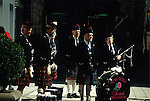 MEN IN KILTS ON NY STREET READY TO PREFORM