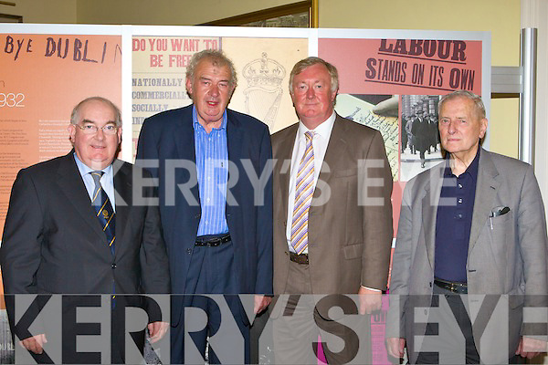 Senator Paul Coughlan, O'Connor-Scarteen, John O'Donoghue and Padraig O'Sullivan at the launch of the Da?il photographic exhibition in the Malton Hotel, Killarney on Thursday.