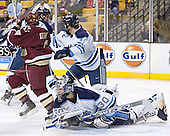 Nathan Gerbe, Travis Ramsey, Steve Mullin, Ben Bishop - The Boston College Eagles defeated the University of Maine Black Bears 4-1 in the Hockey East Semi-Final at the TD Banknorth Garden on Friday, March 17, 2006.