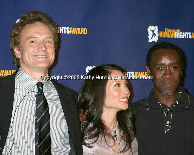 Bradley Whitford.Lucy Liu.Don Cheadle.2005 Reebok Human Rights Award.Royce Hall, UCLA.Westwood, CA.May 11, 2005.©2005 Kathy Hutchins / Hutchins Photo