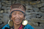 A woman in the village of Gatlang, in the Rasuwa District of Nepal near the country's border with Tibet.