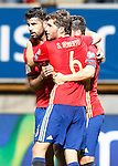 Spain's Diego Costa, Sergi Roberto and Nolito celebrate goal during FIFA World Cup 2018 Qualifying Round match. September 5,2016.(ALTERPHOTOS/Acero)