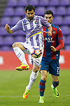 Real Valladolid's Alex Lopez (l) and Levante UD's Jason Remeseiro during La Liga Second Division match. March 11,2017. (ALTERPHOTOS/Acero)