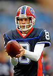 28 August 2008:  Buffalo Bills' punter Brian Moorman practices on the sidelines during a game against the Detroit Lions at Ralph Wilson Stadium in Orchard Park, NY. The Lions defeated the Bills 14-6 in their fourth and final pre-season game...Mandatory Photo Credit: Ed Wolfstein Photo