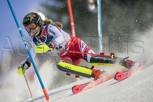 8th February 2019, Are, Sweden; Alpine skiing: Combination, ladies: Christina Ager from Austria on the slalom course.