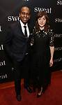 "Daniel Breaker and Kate Whoriskey attend the after party for the Broadway Opening Night of ""Sweat"" at Brasserie 8 1/2 on March 26, 2017 in New York City."