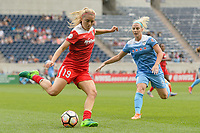 Bridgeview, IL - Saturday June 17, 2017: Kristie Mewis during a regular season National Women's Soccer League (NWSL) match between the Chicago Red Stars and the Washington Spirit at Toyota Park. The match ended in a 1-1 tie.