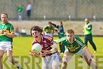 Kerry's Tommy Walsh and Galway's Sean Armstrong.