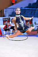 Inessa Rif of Finland performs with hoop at 2010 Holon Grand Prix at Holon, Israel on September 3, 2010.  (Photo by Tom Theobald).