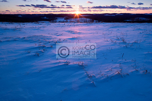 RURAL WINTER SNOW COVERED LANDSCAPE  PENNSYLVANIA USA