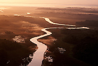 Aerial of Essequibo tributary in central Guyana.