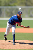 Minnesota Twins pitcher Adrian Salcedo #48 during a minor league Spring Training game against the Boston Red Sox at JetBlue Park Training Complex on March 27, 2013 in Fort Myers, Florida.  (Mike Janes/Four Seam Images)