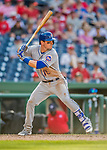 30 April 2017: New York Mets infielder Matt Reynolds at bat in the 9th inning against the Washington Nationals at Nationals Park in Washington, DC. The Nationals defeated the Mets 23-5 in the third game of their weekend series. Mandatory Credit: Ed Wolfstein Photo *** RAW (NEF) Image File Available ***