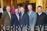 Donal Spring, Dick Spring, Arthur Spring, Arthur Spring and Graham Spring at the North Kerry, West Limerick Election 2011 count at the Brandon Hotel Tralee on Saturday.