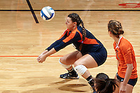 SAN ANTONIO, TX - SEPTEMBER 18, 2014: The University of Houston Cougars fall to the University of Texas at San Antonio Roadrunners 3-1 (30-28, 19-25, 25-21, 25-12) at the UTSA Convocation Center. (Photo by Jeff Huehn)