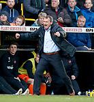 11.05.2018 Livingston v Dundee Utd:  Csaba Laszlo raging