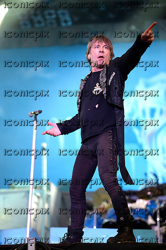 IRON MAIDEN - Bruce Dickinson -  performing live on Day 2 on the Apollo Stage at the 2014 Sonisphere Festival at Knebworth Park Hertfordshire UK - 05 Jul 2014.  Photo credit: George Chin/IconicPix