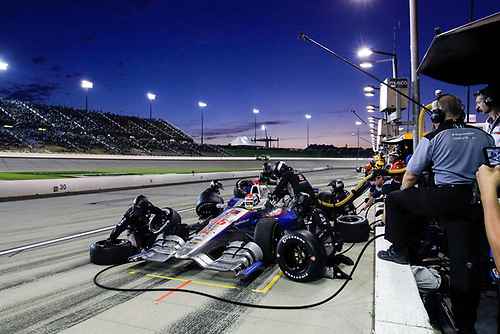 17-18 July, 2015, Newton, Iowa USA<br /> Justin Wilson pit stop<br /> ©2015 Sam Cobb<br /> LAT Photo USA