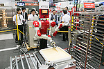 Shichiyo robot performs at the International Food Machinery & Technology Exhibition ''FOOMA JAPAN'' 2016 in Tokyo Big Sight on June 7, 2016, Tokyo, Japan. FOOMA JAPAN showcases the latest products and services for food processing in 6 halls of the exhibition center. The show is organised by the collaboration of 53 food related industry organisations and runs from June 7 to 10. (Photo by Rodrigo Reyes Marin/AFLO)