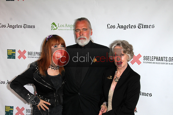 """Judy Tenuta, Chris Gallucci, Tippi Hedren<br /> at the Green Carpet World Premiere and Panel Discussion of """"Illicit Ivory,"""" Los Angeles Zoo Witherbee Auditorium, Los Angeles, CA 05-26-15<br /> David Edwards/DailyCeleb.Com 818-249-4998"""