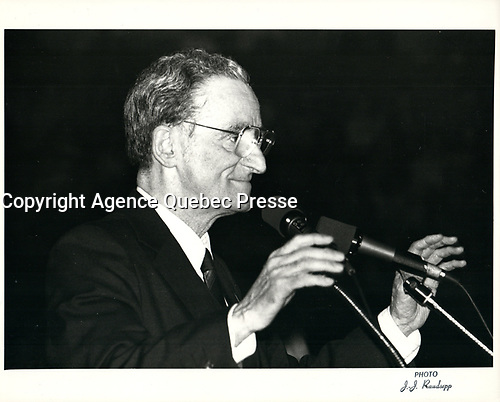 Le chef du PLQ Claude Ryan, en avril 1981 (date exacte inconnue)<br /> <br /> <br /> PHOTO :  Agence Quebec Presse
