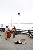 USA, California, San Francisco, the Embarcadero, the Brough Brothers perform at the farmers market during the weekend, the Ferry Building