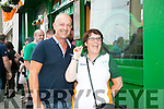Fans David Stone and Helen Barry watching the EURO's Ireland v France at the Huddle Bar on Sunday