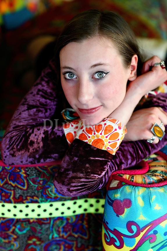 Portrait of Apryl Miller's daughter, Lyris