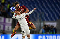 Federico Fazio of AS Roma and Luka Modric of Real Madrid compete for the ball during the Uefa Champions League 2018/2019 Group G football match between AS Roma and Real Madrid atOlimpico stadium , Rome, November, 27, 2018 <br />  Foto Andrea Staccioli / Insidefoto