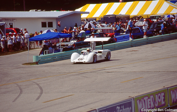 Jim Hall lapping in his 2E at Road America for the first time in 18 years.