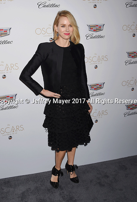 LOS ANGELES, CA - FEBRUARY 23: Actress Naomi Watts attends Cadillac's 89th annual Academy Awards celebration at Chateau Marmont on February 23, 2017 in Los Angeles, California.