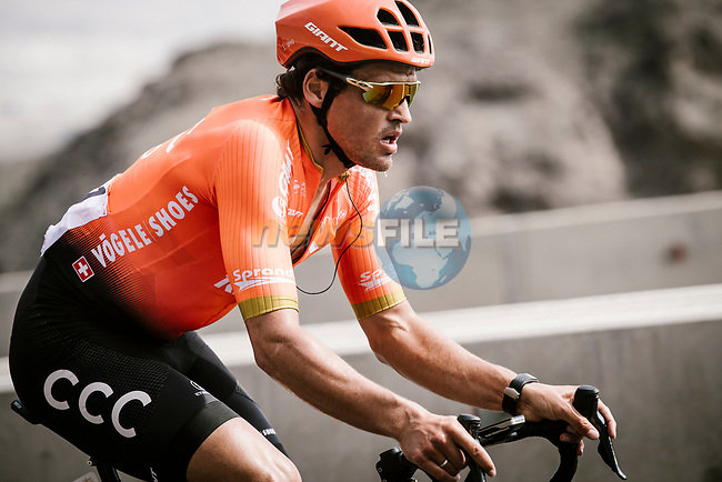 Greg Van Avermaet (BEL) CCC Team climbing during Stage 4 of 10th Tour of Oman 2019, running 131km from Yiti (Al Sifah) to Oman Convention and Exhibition Centre, Oman. 19th February 2019.<br /> Picture: ASO/P. Ballet | Cyclefile<br /> All photos usage must carry mandatory copyright credit (© Cyclefile | ASO/P. Ballet)
