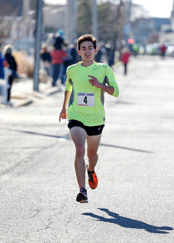Liam Wall of Manasquan wins first annual Manasquan Turkey Run on Sat., Nov. 22, 2014. (Andrew Mills Digital Media)