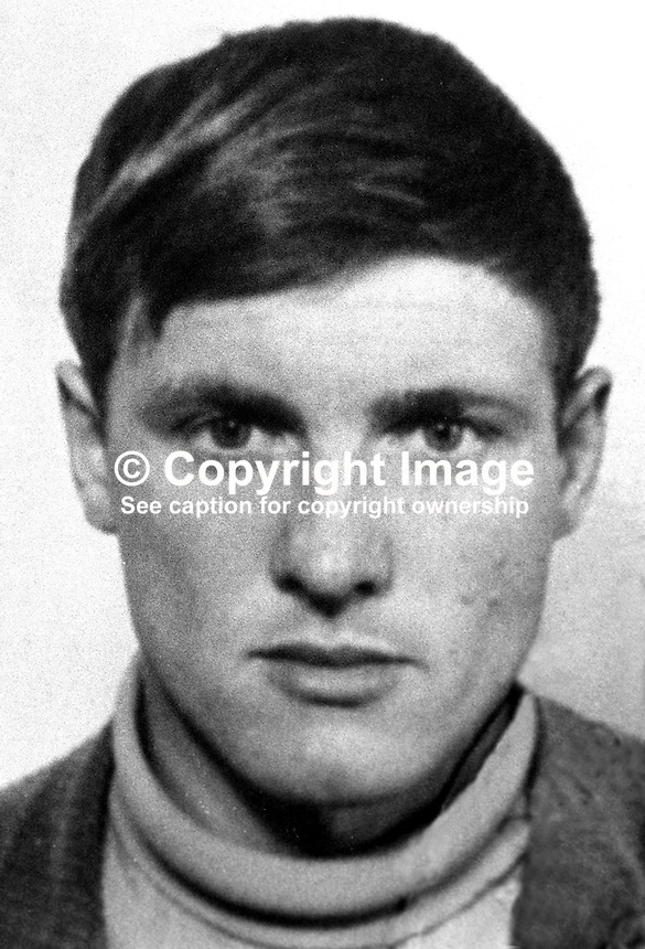 Corporal Steven Harrison, 24 years, single, 2 Para, British Army, UK, who was killed 7th April 1973 in landmine explosion at Newtownhamilton, Co Armagh, N Ireland. Lance Corporal Terence Brown also died in the attack. 197304070188<br />