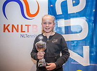 Hilversum, Netherlands, December 3, 2017, Winter Youth Circuit Masters, 12,14,and 16 years, 2 th place girls 12 years Britt de Pree<br /> Photo: Tennisimages/Henk Koster
